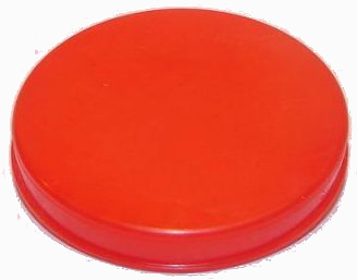 Víčko na KEG plochý+kombi červené