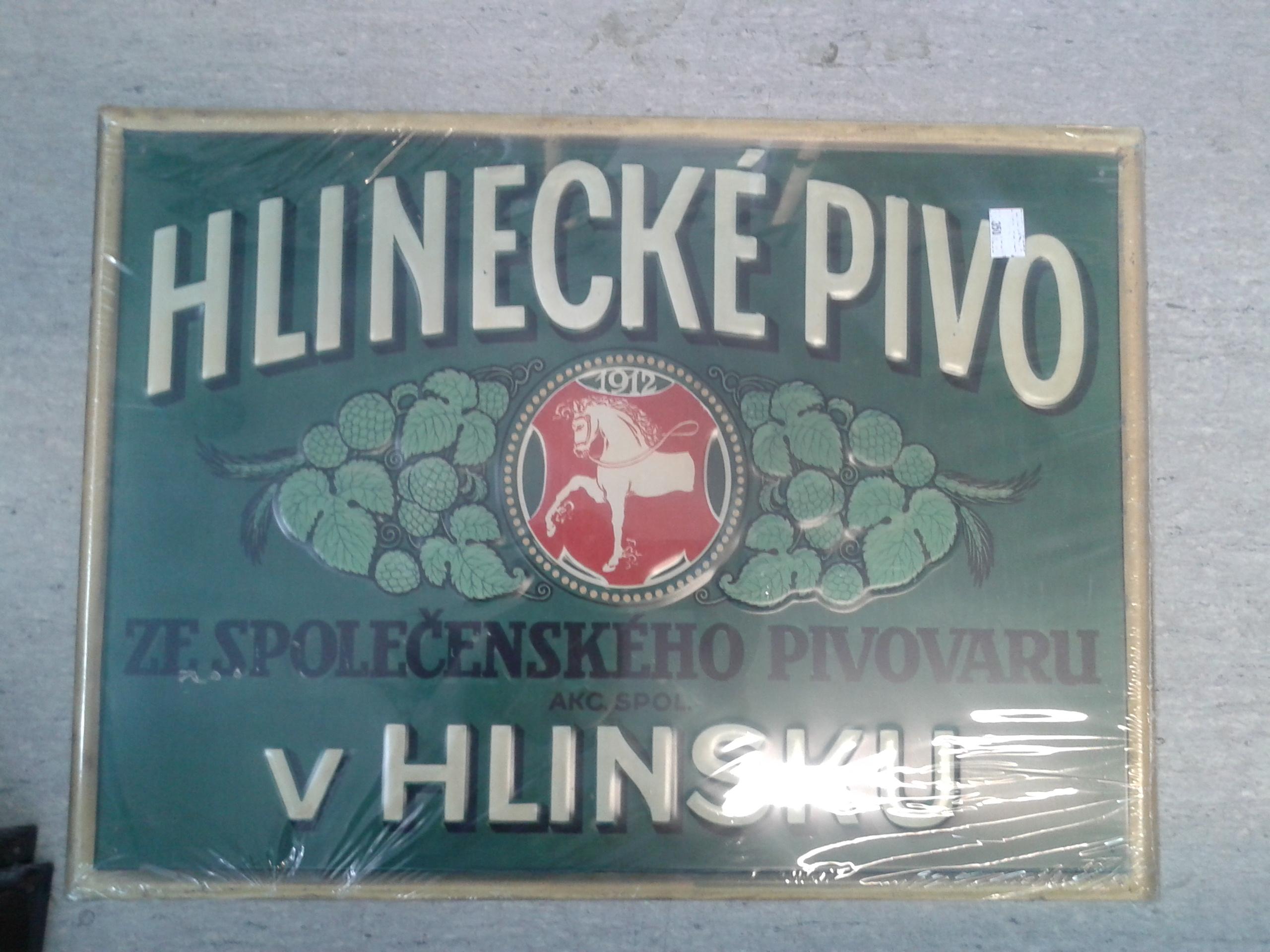 Plechová cedule Hlinecké pivo