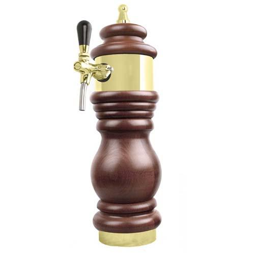 Výčepní stojan BAROKO 1xkohout - zlato