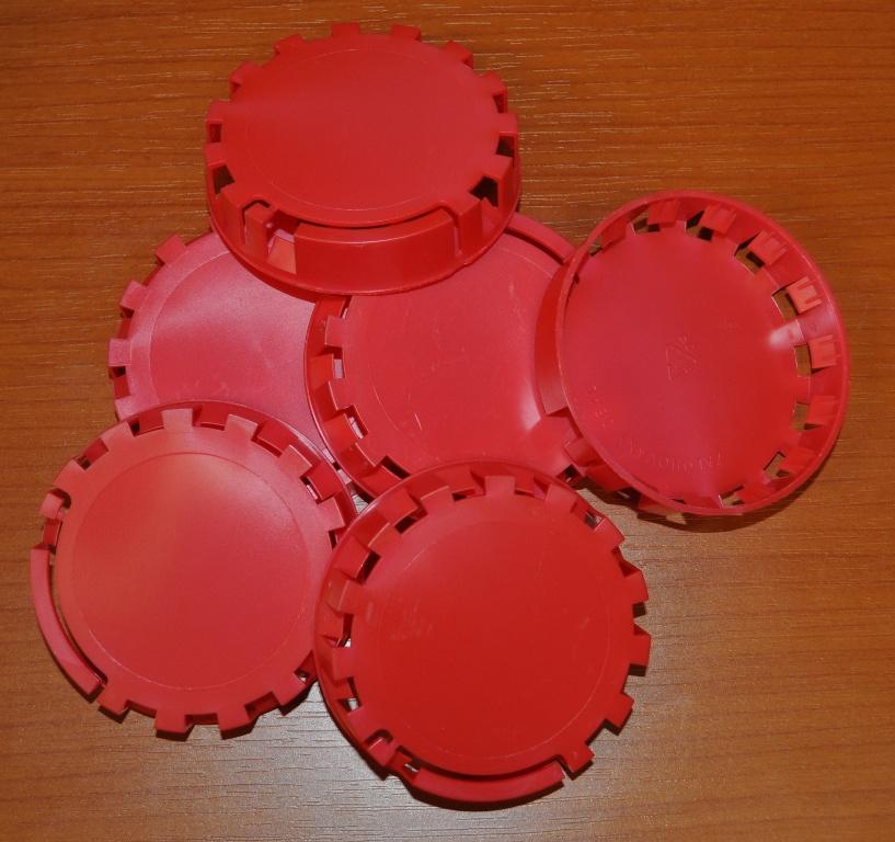 Plombovací víčko na KEG plochý+kombi červená