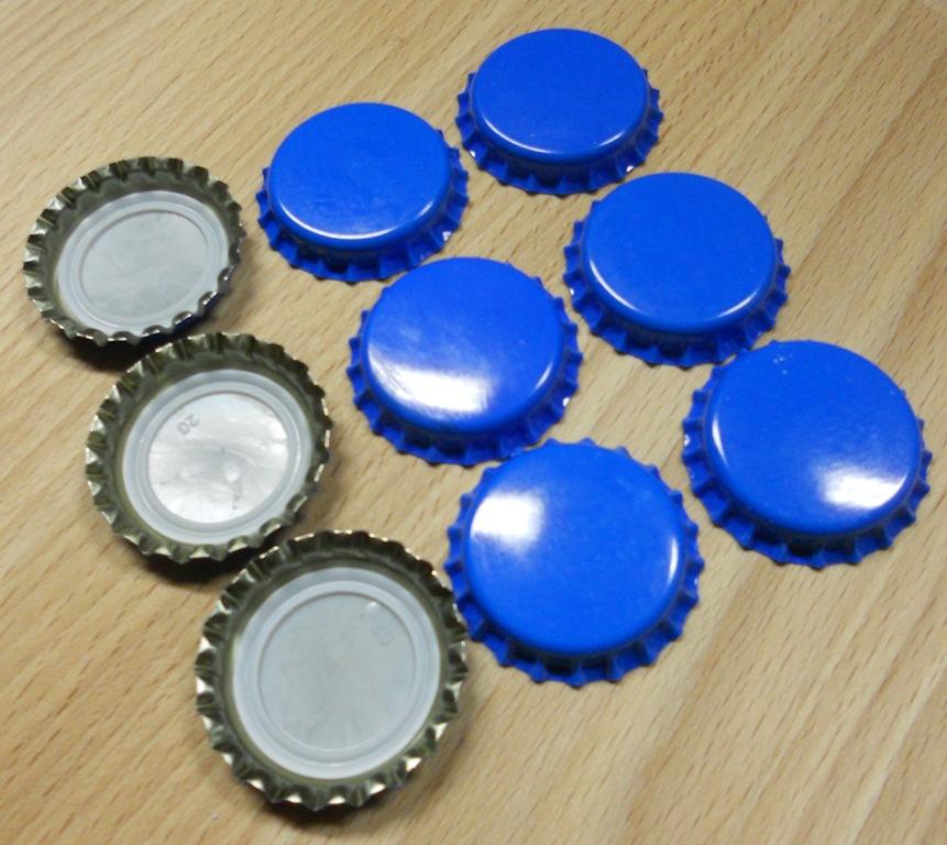 Korunkové zátky modré - 100ks