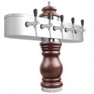 Výčepní stojan BAROKO 5xkohout - chrom