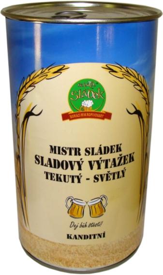Mistr Sládek - Sladový výtažek tekutý světlý (kandidátní) 1,7 kg