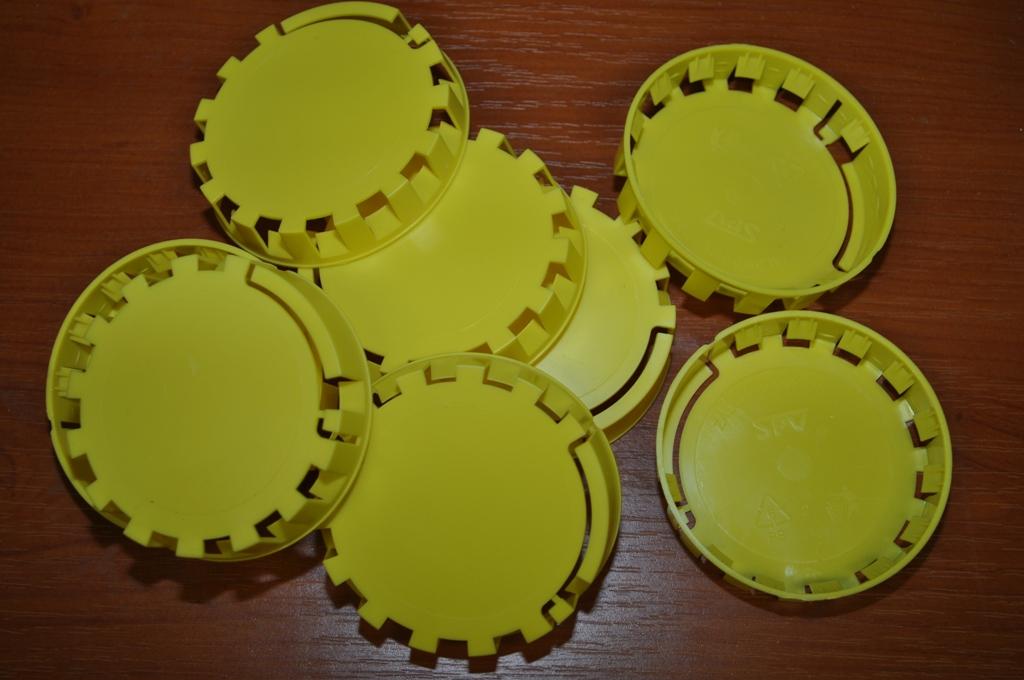 Plombovací víčko na KEG plochý+kombi žlutá