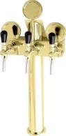 Výčepní stojan LINDR T3 + plakety - zlato