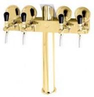 Výčepní stojan LINDR T4 na kování T5 + plakety - zlato