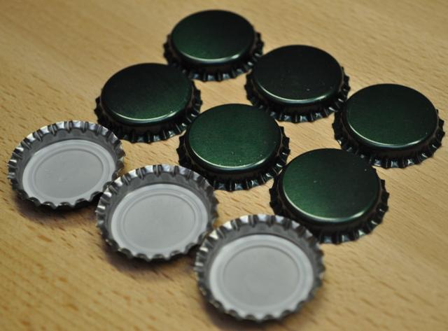 Korunkové zátky zelené - 100ks