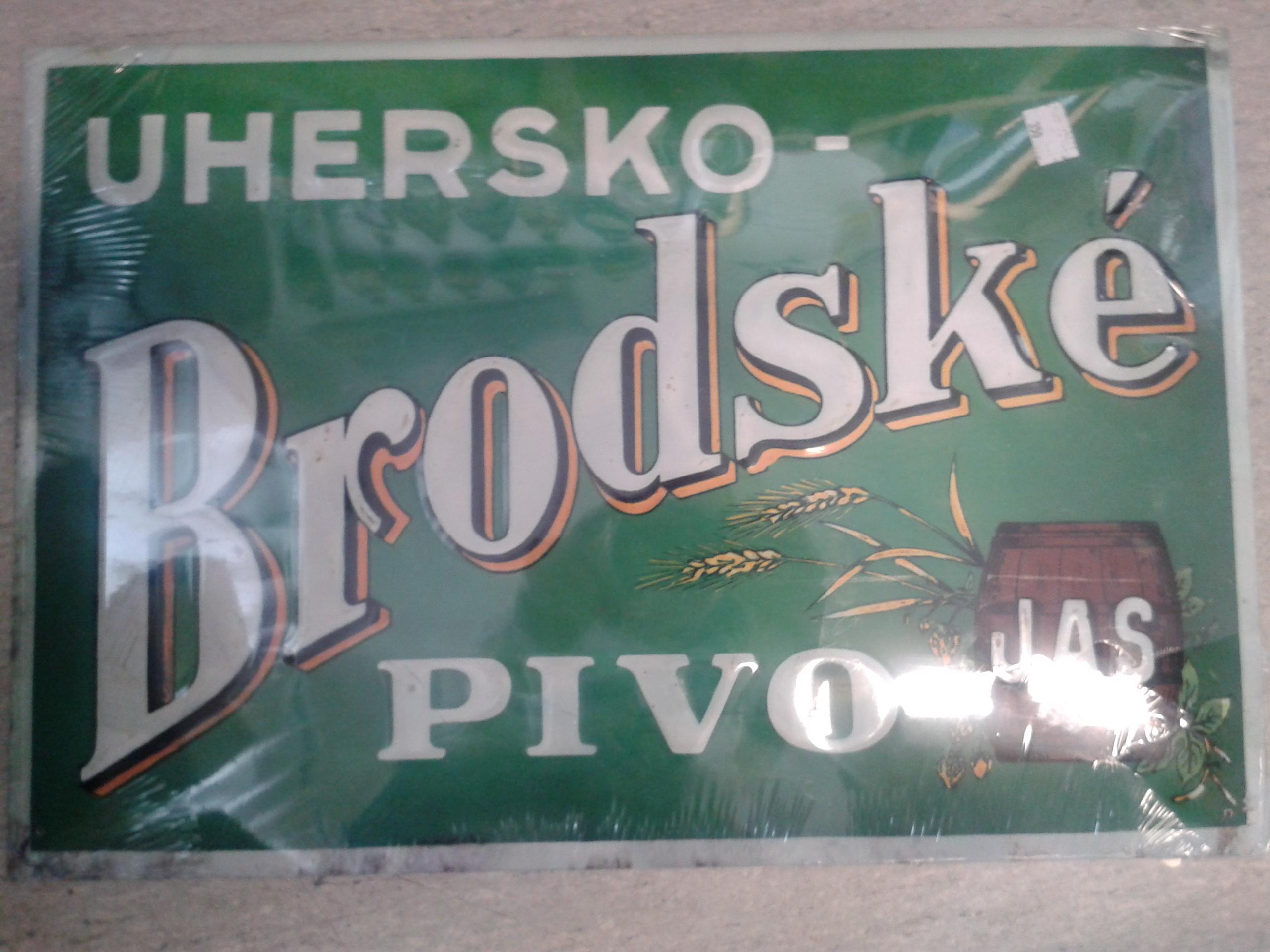Plechová cedule Uhersko-Brodské pivo