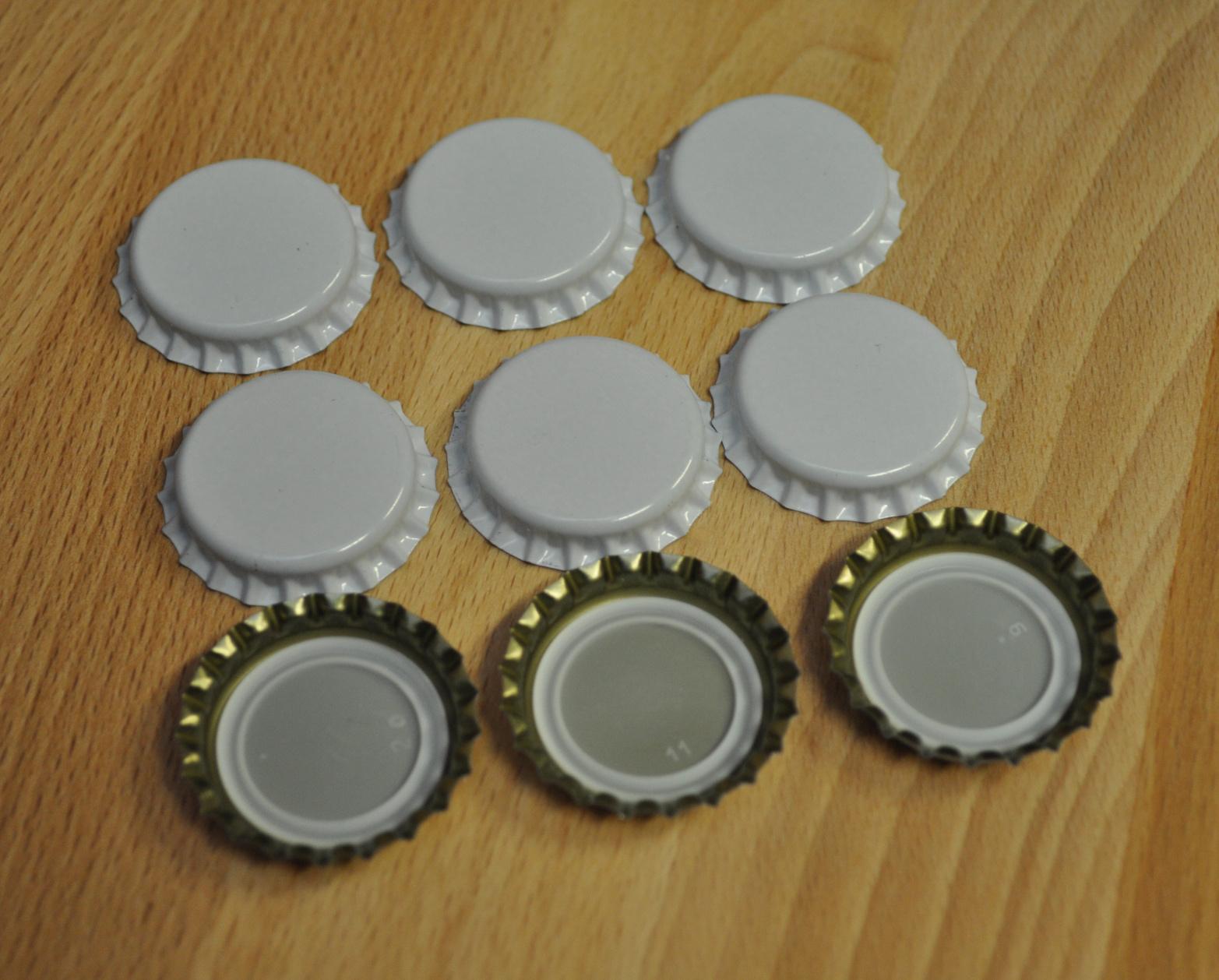 Korunkové zátky bílé - 100ks