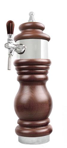 Výčepní stojan BAROKO 1xkohout - chrom