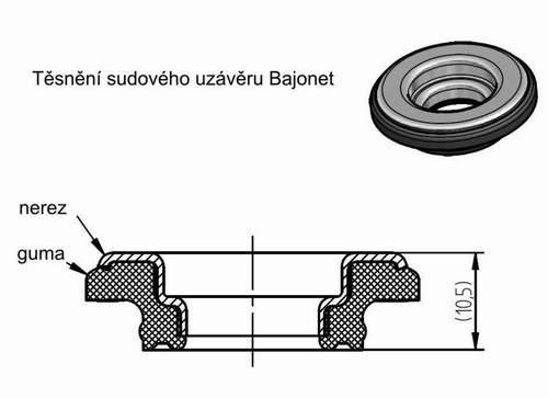 Těsnění KEG příruby Bajonet