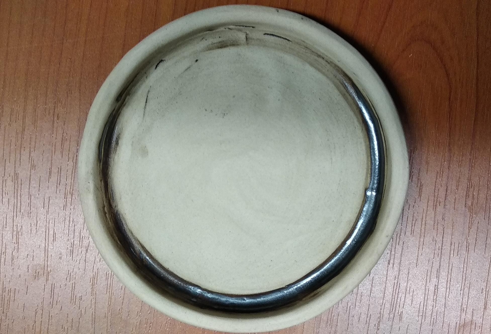 Keramický pivní podtácek hnědý