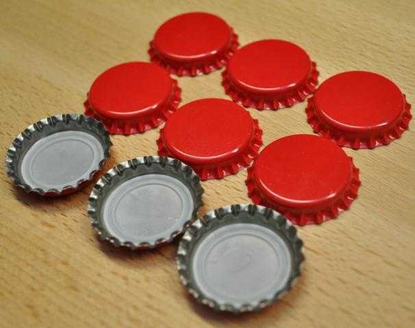 Korunkové zátky červené - 100ks