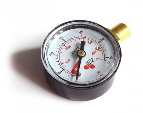 Manometr tlaku v láhvi CO2, N2