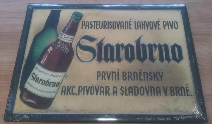 Plechová cedule pivovaru Starobrno